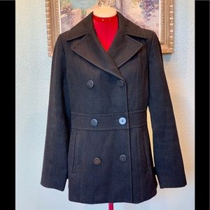Kenneth Cole black wool peacoat in a size 8